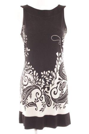 s.Oliver Abito scamiciato nero-bianco sporco motivo astratto elegante