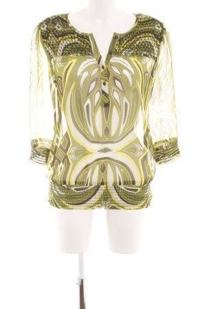 s.Oliver Transparenz-Bluse abstraktes Muster Business-Look