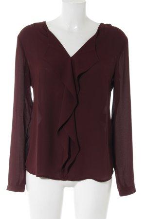 s.Oliver Transparante blouse bordeaux zakelijke stijl
