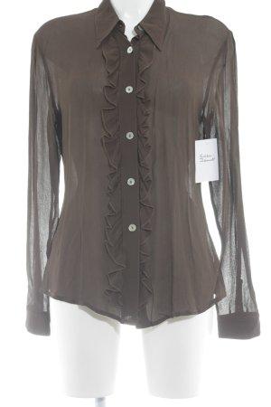 s.Oliver Transparent Blouse brown elegant