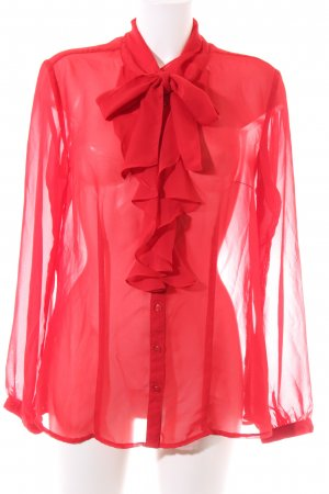 s.Oliver Transparenz-Bluse rot Business-Look
