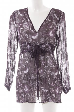 s.Oliver Transparenz-Bluse florales Muster Casual-Look