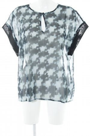 s.Oliver Transparante blouse lichtblauw-donkerblauw abstract patroon elegant