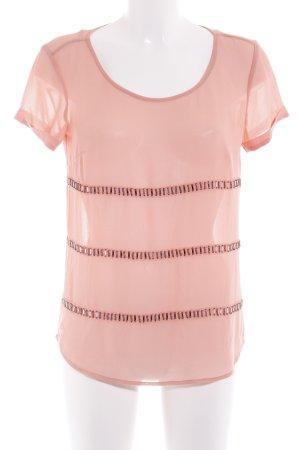 s.Oliver Transparenz-Bluse lachs Romantik-Look