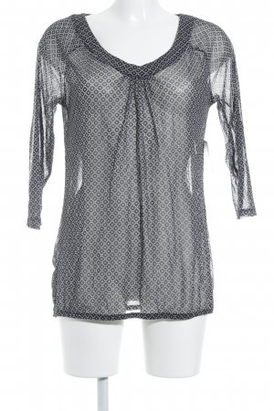 s.Oliver Transparenz-Bluse schwarz-weiß Elegant