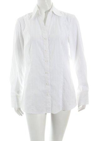 s.Oliver Transparenz-Bluse weiß Nadelstreifen klassischer Stil