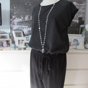 S.OLIVER * Traum Jumpsuit Overall * schwarz Materialmix * 42/44