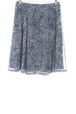 s.Oliver Falda de tul azul oscuro-blanco estampado floral look casual