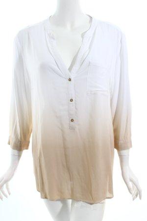 s.Oliver Tunikabluse weiß-beige Farbverlauf Casual-Look