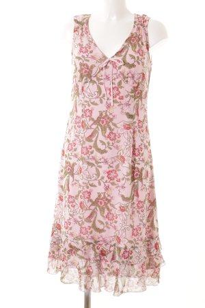 s.Oliver Tunikakleid rosa-grün Blumenmuster Beach-Look