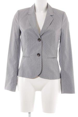 s.Oliver Tweedblazer graublau-weiß Streifenmuster Business-Look