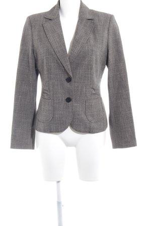 s.Oliver Tweed blazer grijs-bruin gestippeld zakelijke stijl