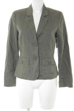 s.Oliver Tweed blazer khaki casual uitstraling