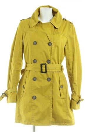 s.Oliver Between-Seasons-Coat dark yellow casual look