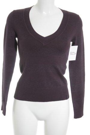 s.Oliver V-Ausschnitt-Pullover braunviolett Casual-Look
