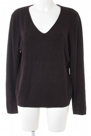 s.Oliver V-Neck Sweater dark brown casual look