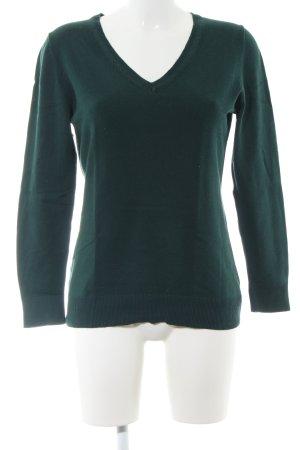 s.Oliver V-Ausschnitt-Pullover khaki Casual-Look
