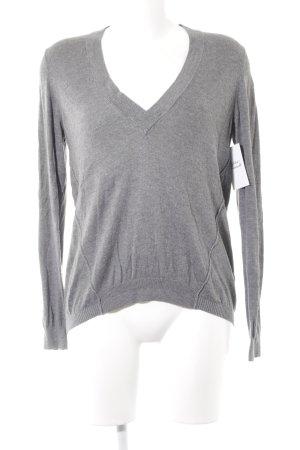 s.Oliver V-Ausschnitt-Pullover grau Casual-Look