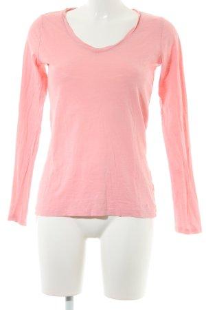 s.Oliver V-Ausschnitt-Shirt rosa minimalistischer Stil