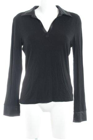 s.Oliver V-hals shirt zwart casual uitstraling
