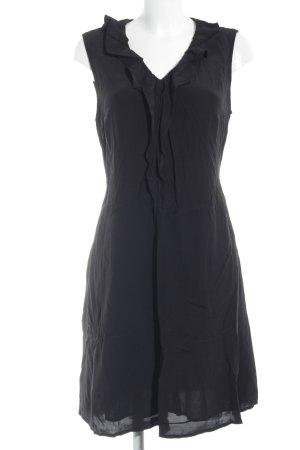 s.Oliver Volante jurk zwart casual uitstraling