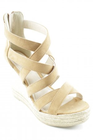s.Oliver Wedges Sandaletten sandbraun Beach-Look