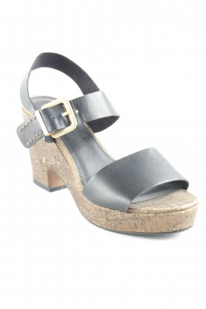 s.Oliver Wedge Sandals black casual look