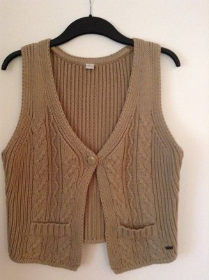 s.Oliver Cable Sweater cream cotton