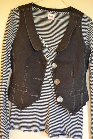 s.Oliver Gilet en jean noir