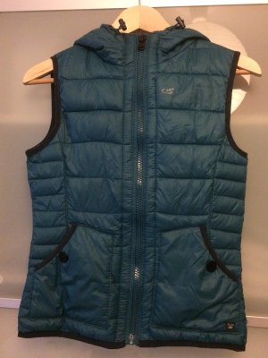QS by s.Oliver Hooded Vest petrol