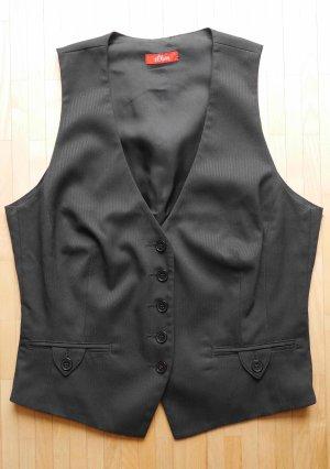 s.Oliver Gilet de costume noir