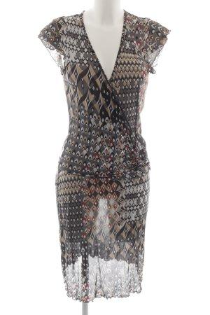 s.Oliver Vestido cruzado estampado con diseño abstracto estilo extravagante