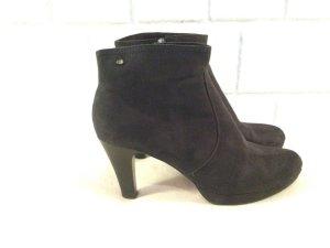 S.Oliver Wildleder Velourleder Stiefelette Boots Highheels Stiefel schwarz Ankle Boots Größe 41