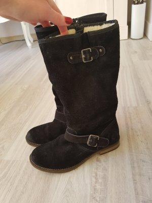 s.Oliver Fur Boots black