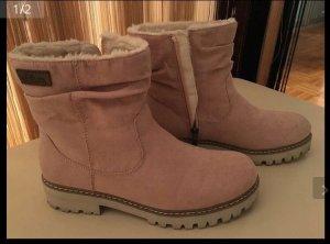 s.Oliver Fur Boots dusky pink