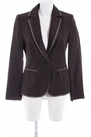 s.Oliver Wool Blazer grey brown-taupe business style