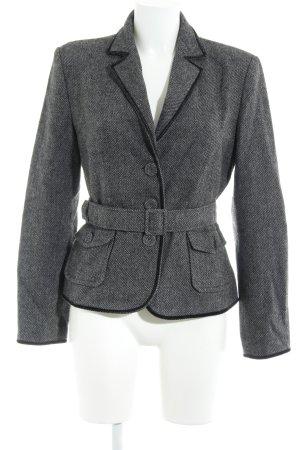 s.Oliver Blazer in lana nero-grigio scuro stile professionale