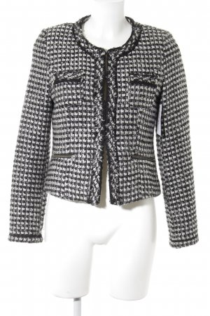 s.Oliver Wool Blazer black-white check pattern business style