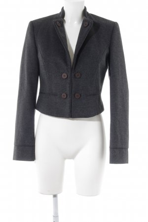 s.Oliver Wollen blazer taupe gestippeld casual uitstraling