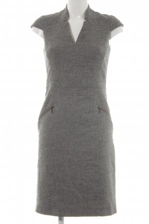 s.Oliver Woolen Dress dark grey-white flecked business style