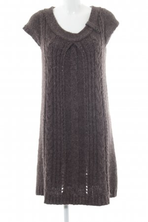 s.Oliver Wollkleid graubraun Zopfmuster Casual-Look