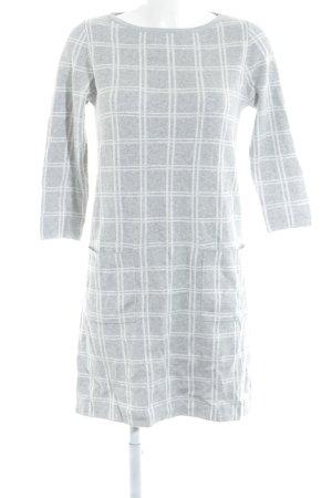 s.Oliver Wollen jurk lichtgrijs-wit geruite print casual uitstraling