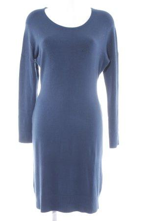 s.Oliver Vestido de lana azul cadete Patrón de estrellas estilo romántico