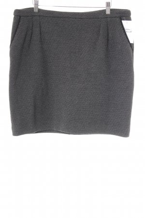 s.Oliver Wool Skirt black-grey spot pattern elegant