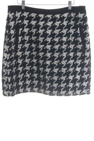 s.Oliver Wool Skirt black-natural white houndstooth pattern elegant