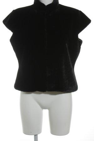 s.Oliver Women Smanicato di pelliccia nero stile da moda di strada