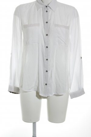 s.Oliver Women Hemd-Bluse weiß-bronzefarben Casual-Look