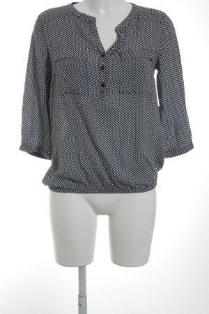 s.Oliver Women Tunikabluse dunkelblau-wollweiß abstraktes Muster Casual-Look