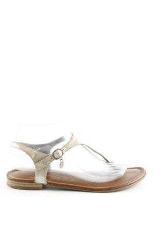 s.Oliver Sandalo toe-post argento stile casual