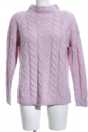 s.Oliver Zopfpullover pink Zopfmuster Casual-Look
